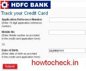 track or check hdfc bank credit card status